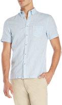 Ben Sherman Short Sleeve Linen-Blend Shirt