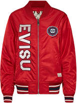 Evisu Bomber Jacket With Kamon Gear And Logo Applique