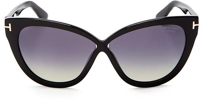Tom Ford Arabella Polarized Cat Eye Sunglasses, 54mm