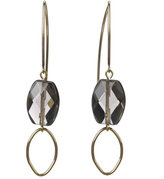 Designs Smoke Topaz Drop Loop Earrings