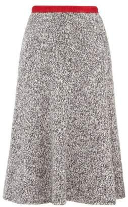 Vika Gazinskaya Flared Knitted Midi Skirt - Womens - Grey Multi