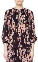Isabel Marant Wave Cherry Blossom Georgette Top
