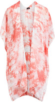 Lvs Collections LVS Collections Women's Kimono Cardigans RED - Red Tie-Dye Kimono - Women
