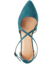 Charlotte Russe Crisscross Two-Piece Pointed Toe Flats