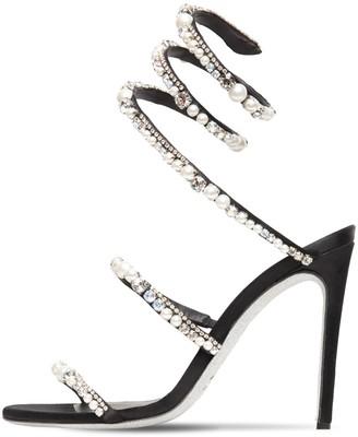 Rene Caovilla 105mm Embellished Satin Sandals