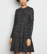 New Look Spot Soft Touch Tiered Smock Dress