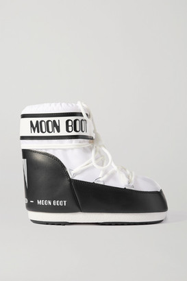 Moon Boot Classic Low 2 Shell And Faux Leather Snow Boots - White