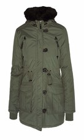 Thumbnail for your product : Brave Soul Ladie's Jacket MILITARYFUR Khaki UK 12