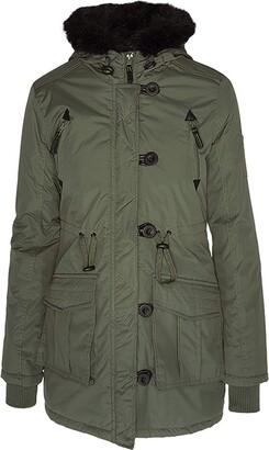 Brave Soul Ladie's Jacket MILITARYFUR Khaki UK 12