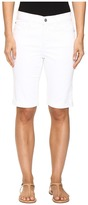 NYDJ Briella Roll Cuff Shorts in Optic White Women's Shorts