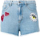 Chiara Ferragni Flirting shorts - women - Cotton/Viscose/PVC/glass - S