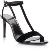 Lanvin Velvet T-Strap Sandals