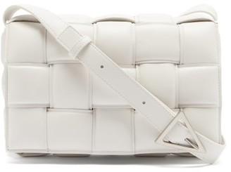 Bottega Veneta Padded Cassette Intrecciato Leather Cross-body Bag - White