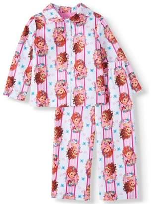 Fancy Nancy Toddler Girl Coat Style Pajamas, 2Pc Set