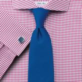Charles Tyrwhitt Classic fit non-iron spread collar basketweave check raspberry shirt
