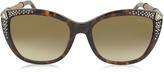 Roberto Cavalli TALITHA 978S Acetate and Crystals Cat Eye Women's Sunglasses