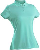 Asstd National Brand Luster Short Sleeve Plus Short Sleeve Knit Polo Shirt Plus