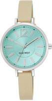 Nine West Women's Natural Leather Strap Watch 35mm NW-1861MTMT