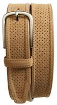 Johnston & Murphy Men's Perforated Suede Belt