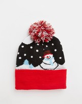 7X Snowman Bobble Hat