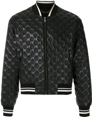 Dolce & Gabbana Circle Embossed Bomber Jacket