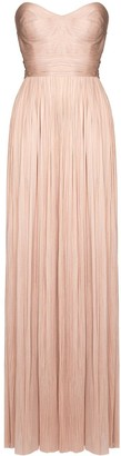 Maria Lucia Hohan Theia strapless pleated gown