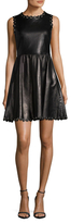 RED Valentino Leather A Line Dress