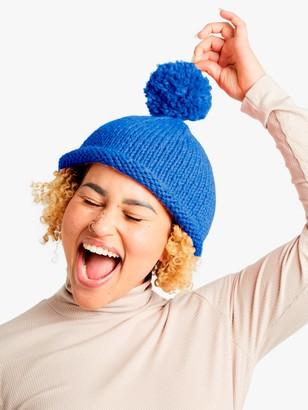 Wool And The Gang Reese Beanie Hat Knitting Kit, Cornflower Blue