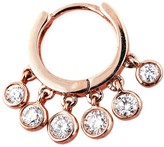 Jacquie Aiche Mini Diamond Shaker Hoop Earring - Rose Gold