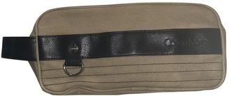Calvin Klein Beige Cotton Small bags, wallets & cases