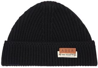Ader Error Logo Patch Wool Knit Beanie