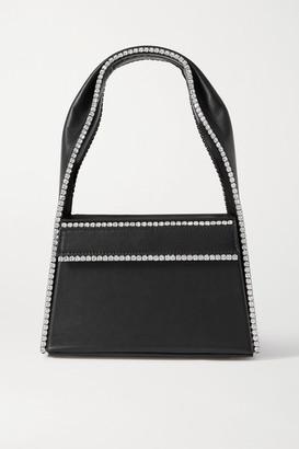 Area Jewl Crystal-embellished Leather Tote - Black