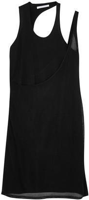 Helmut Lang Black rayon-blend mini dress