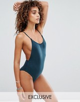 South Beach Suedette Low Back Swimsuit