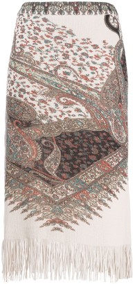 Etro Paisley Knit Skirt