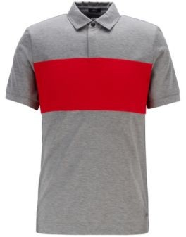 Slim-fit polo shirt in double-mercerized cotton