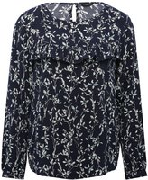 M&Co Floral frill print top