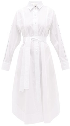 Sportmax Fanello Shirtdress - Womens - White