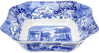 Spode Blue Italian Square Dish Serving Bowl