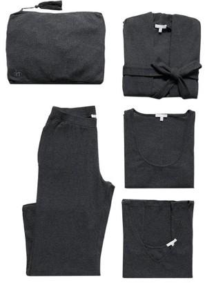Skin Ribbed-jersey Pyjama Set - Grey