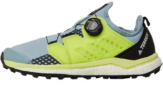 adidas Womens Terrex Agravic Boa Trail Running Shoes Ash Grey/Safety Yellow/Core Black