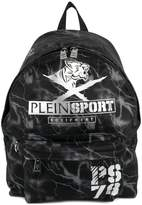 Plein Sport lightning printed backpack