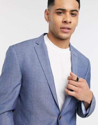 Esprit linen suit jacket in blue