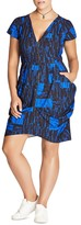 City Chic Abstract Print Zip Dress