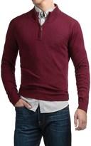 Cullen C89men Merino Wool Sweater - Zip Neck (For Men)