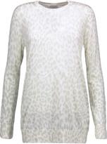 Equipment Rei leopard-intarsia silk sweater