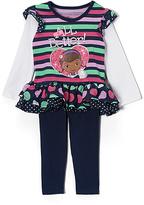 Children's Apparel Network Navy Stripe Doc McStuffins Tunic & Leggings - Toddler & Girls