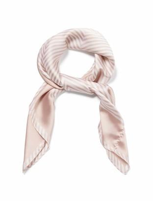 Forever New Lauren Square Scarf - White/ Blush Stripe - 00