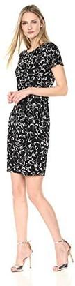 Robbie Bee Women's Short Sleeve Sarong Dress Black/Grey Extra Large