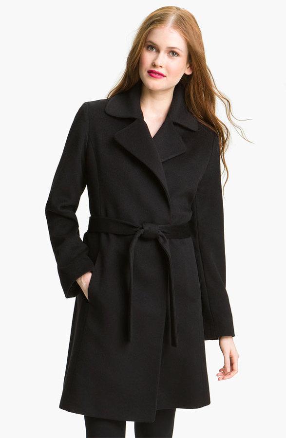 Fleurette Cashmere Wrap Coat (Online Exclusive)